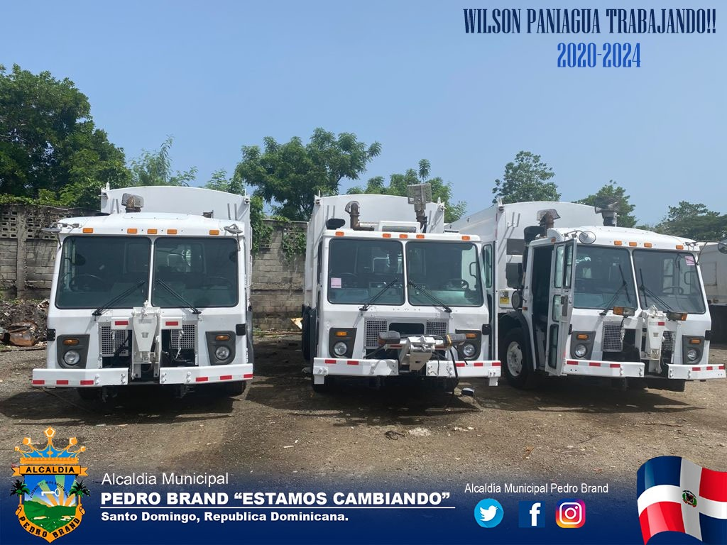 Nuestro alcalde Wilson Paniagua gestionó la compra de 3 camiones compactadores de basura.